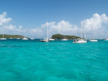Tobago Cays Sailboats Stock Images