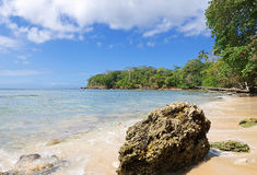 Tobago island - Mt. Irvine bay and beach - Tropical beach of Caribbean sea. Republic of Trinidad and Tobago - Tobago island - Mt. Irvine bay and beach - Tropical Stock Photography