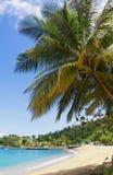Tobago island - Parlatuvier beach - Caribbean sea. Republic of Trinidad and Tobago - Tobago island - Parlatuvier bay and beach - Caribbean sea royalty free stock photo