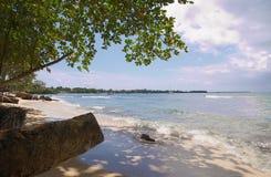 Tobago - Mt Irvine fjärd - tropisk strand av det karibiska havet Arkivbilder