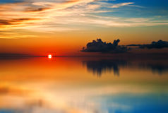 Tobago (Trinidad and Tobago) Sunset reflection Stock Photography