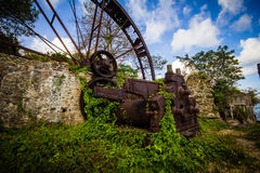 Tobago Waterwheel. Water wheel in Speyside, Trinidad & Tobago, Carribean, West Indies Royalty Free Stock Images