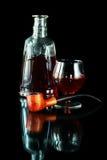 Tobak leda i rör och cognacen Arkivbild