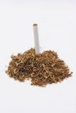Tobak med en cigarett Arkivfoton