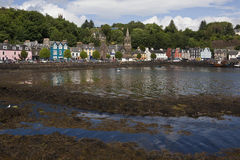 Tobarmory on the Isle of Mull - Scotland. Low tide in the town of Tobarmory on the Isle of Mull, part of the Inner Hebrides on the west coast of Scotland royalty free stock images