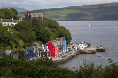 Tobarmory - Isle of Mull - Scotland. Colorful building in the town of Tobarmory on the Isle of Mull, part of the Inner Hebrides on the west coast of Scotland royalty free stock photo