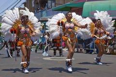 Tobas舞蹈小组-阿里卡,智利 免版税图库摄影