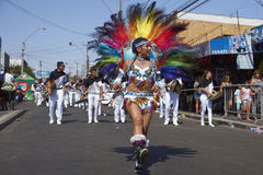 Tobas Dance Group - Arica, Chile Royalty Free Stock Images
