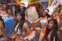 Tobas dance group at the Oruro Carnival in Bolivia Stock Image