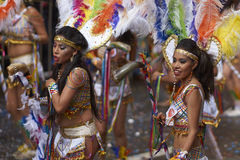 Tobas dance group at the Oruro Carnival in Bolivia Stock Images