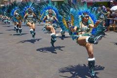 Tobas dansgrupp - Arica, Chile Royaltyfri Fotografi