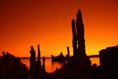 Tobas volcánicas anaranjadas Foto de archivo libre de regalías