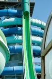 Tobbogans in aqua park Stock Photography