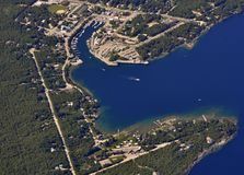 Tobermory, aerial Stock Photo