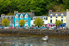 Tobermory buildings colourful Mull Scotland Royalty Free Stock Photography