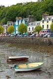 Tobermory houses boats Mull Scotland Stock Photos