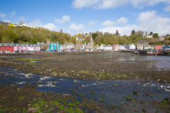Tobermory Isle of Mull Scotland uk small town in Scottish Inner Hebrides. On a beautiful spring day with sunshine royalty free stock images