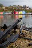 Tobermory on  Mull with anchor foreground Stock Image