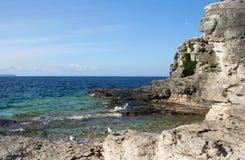 Tobermory, Ontario. Limestone rock formations at Tobermory, Ontario, Canada Royalty Free Stock Image