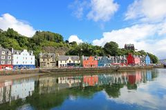 Tobermory town, capital of the Isle of Mull in the Scottish Inner Hebrides, Scotland, United Kingdom royalty free stock images