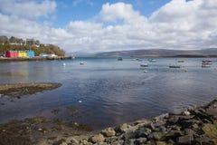 Tobermory zatoki wyspa uk Rozmyślam Szkocja Fotografia Stock