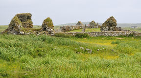 Tobha Mor Ancient Chapels Royalty Free Stock Images