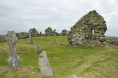 Tobha Mor Ancient Chapels Stock Images