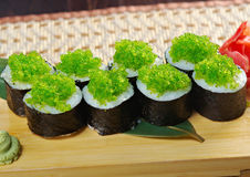 Tobiko (flying fish roe) Gunkan Maki Sushi Stock Photography