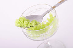 Tobiko green caviar Royalty Free Stock Images