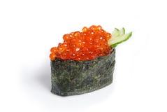 Tobiko Gunkan z łososiowym kawiorem Fotografia Royalty Free