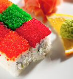 Tobiko Rainbow Roll Royalty Free Stock Images