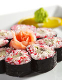 Tobiko Roll Stock Photo