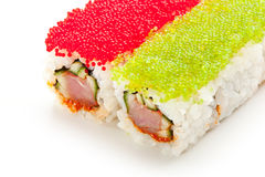 Tobiko Spicy Roll Royalty Free Stock Images