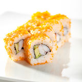 Tobiko Sushi Roll Stock Photography