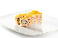 Tobiko-Sushi-Rolle Stockfotografie