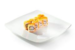 Tobiko-Sushi-Rolle Lizenzfreies Stockbild