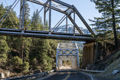 Tobin Twin Bridges. In the Feather River Canyon Royalty Free Stock Photos