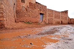 Tobius`s qasba in the atlas mountains in Morocco after the rain Royalty Free Stock Images