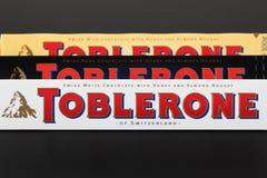 Toblerone巧克力块 免版税库存图片