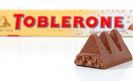 Toblerone Chocolate Bar Royalty Free Stock Photography