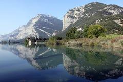 toblino озера Стоковое Изображение