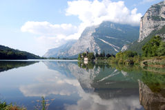 Toblino lake, Italy. This lake is considered to be one of the most romantic lakes in the Trentino Royalty Free Stock Images