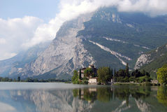 Toblino lake, Italy Royalty Free Stock Images