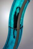 Tobogán acuático azul fotos de archivo