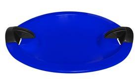 Tobogan odizolowywający na bielu - błękit Zdjęcia Stock