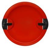Tobogan odizolowywający na bielu - czerwień Obrazy Stock