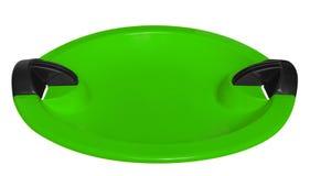 Tobogan odizolowywający na bielu - zieleń Obrazy Royalty Free