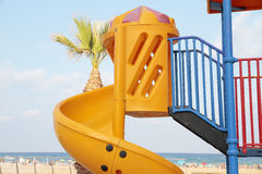 Toboggan in the beach Royalty Free Stock Photos
