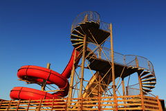 Toboggan in the holiday resort of Crystal Rocks, Northern Cyprus Royalty Free Stock Photography