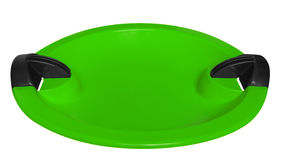 Toboggan isolated on the white - green Royalty Free Stock Images